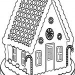Big Gingerbread House Coloring Page