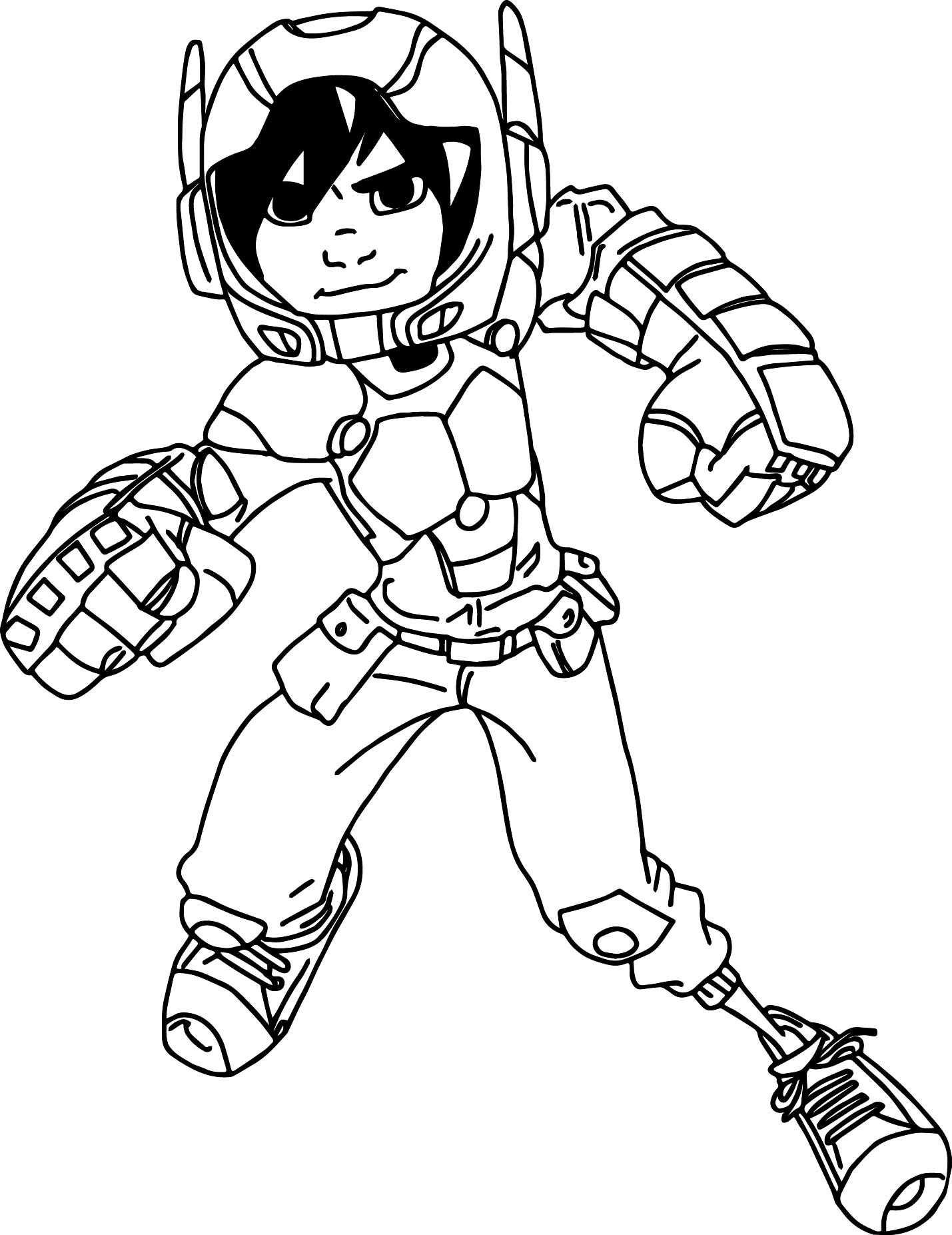 Big Hero 6 Characters Hiro Hamada Stay Coloring Page