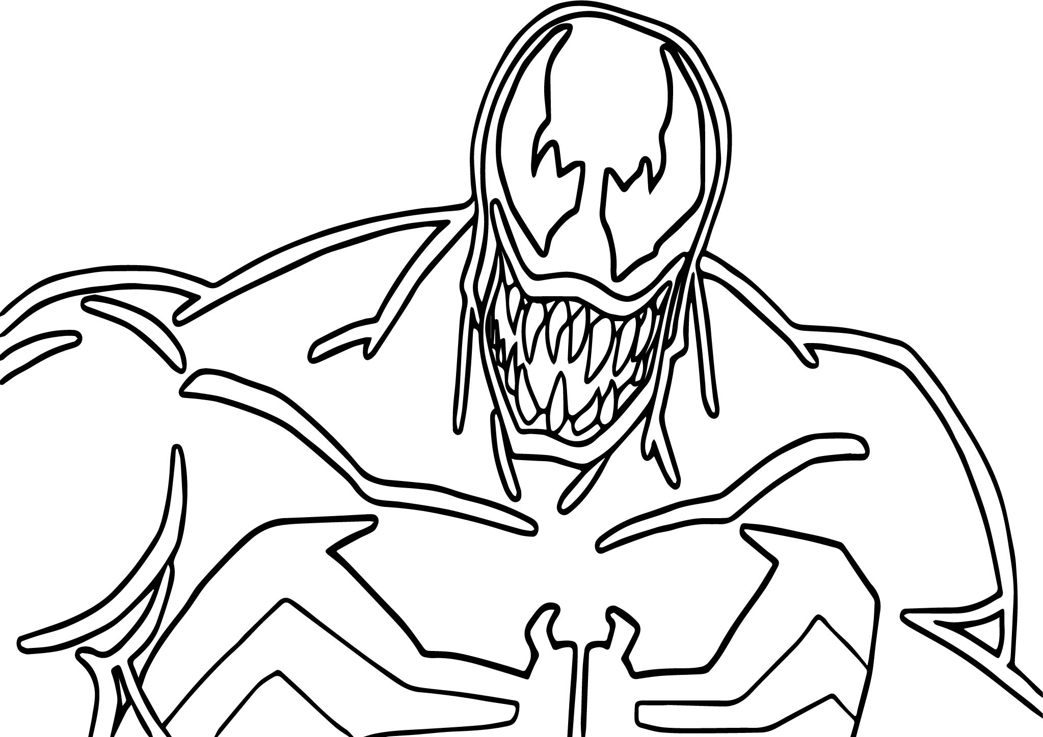 Coloring pages venom - Big Venom Coloring Page