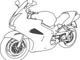 Bikes Honda VFR 800 Interceptor Motorcycle Coloring Page