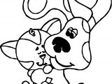 Blue's Clues Dog And Cat Coloring Page