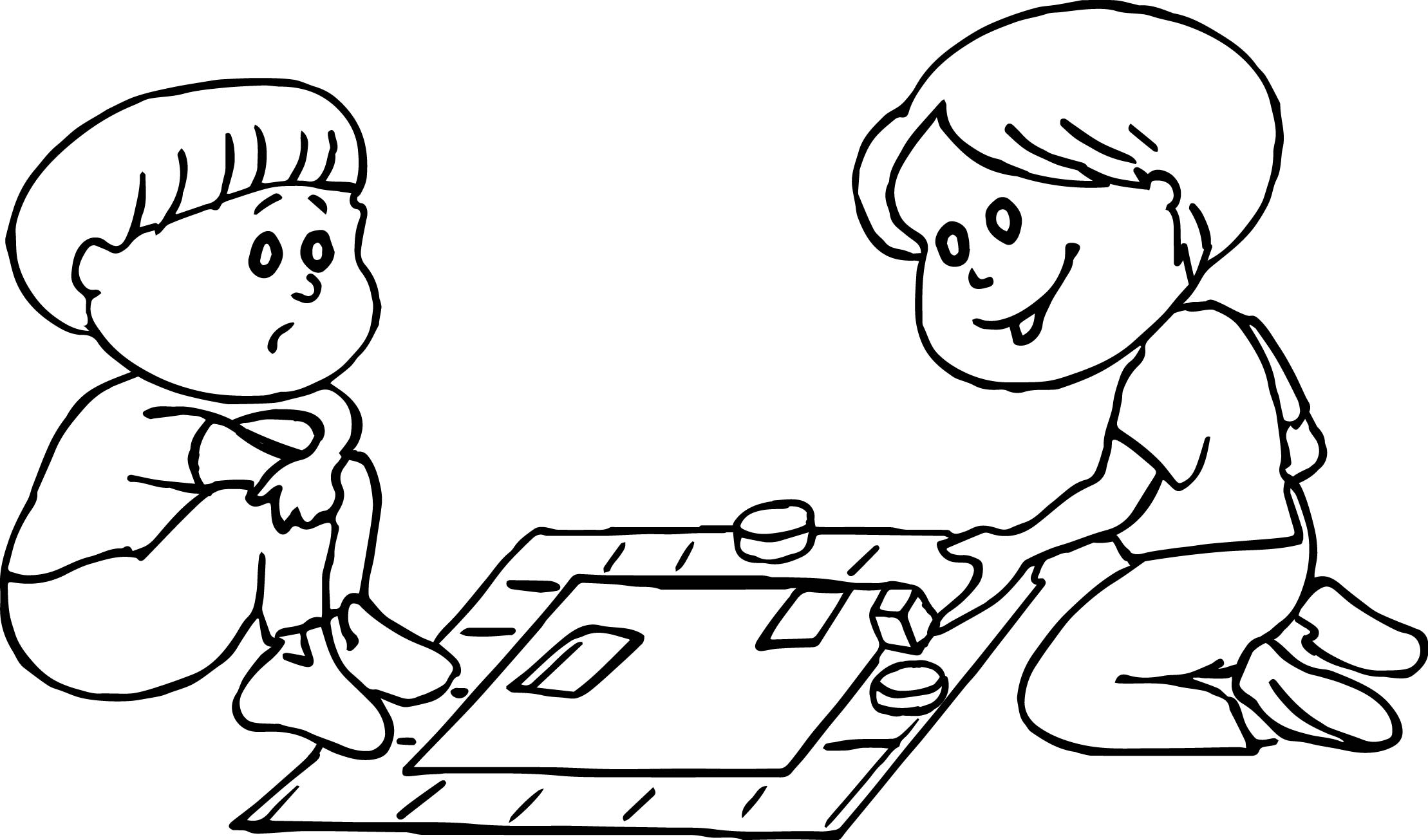 Board Kids Coloring Page