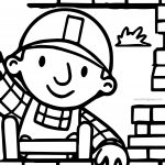 Bob The Builder Building Wall Coloring Page
