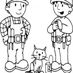 Bob The Builder Cat And Friends Coloring Page