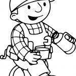 Bob The Builder Drink Tea Coloring Page
