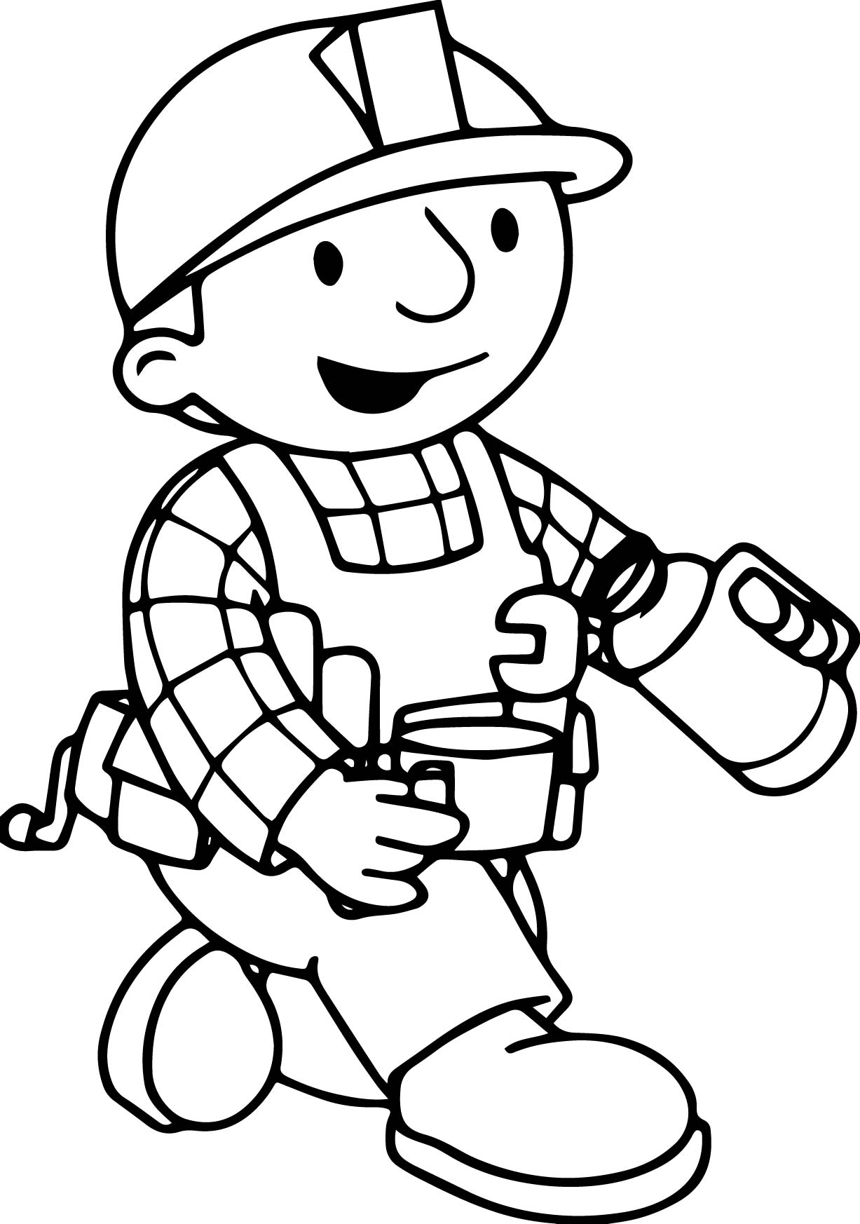 Bob The Builder Drink Tea Coloring Page