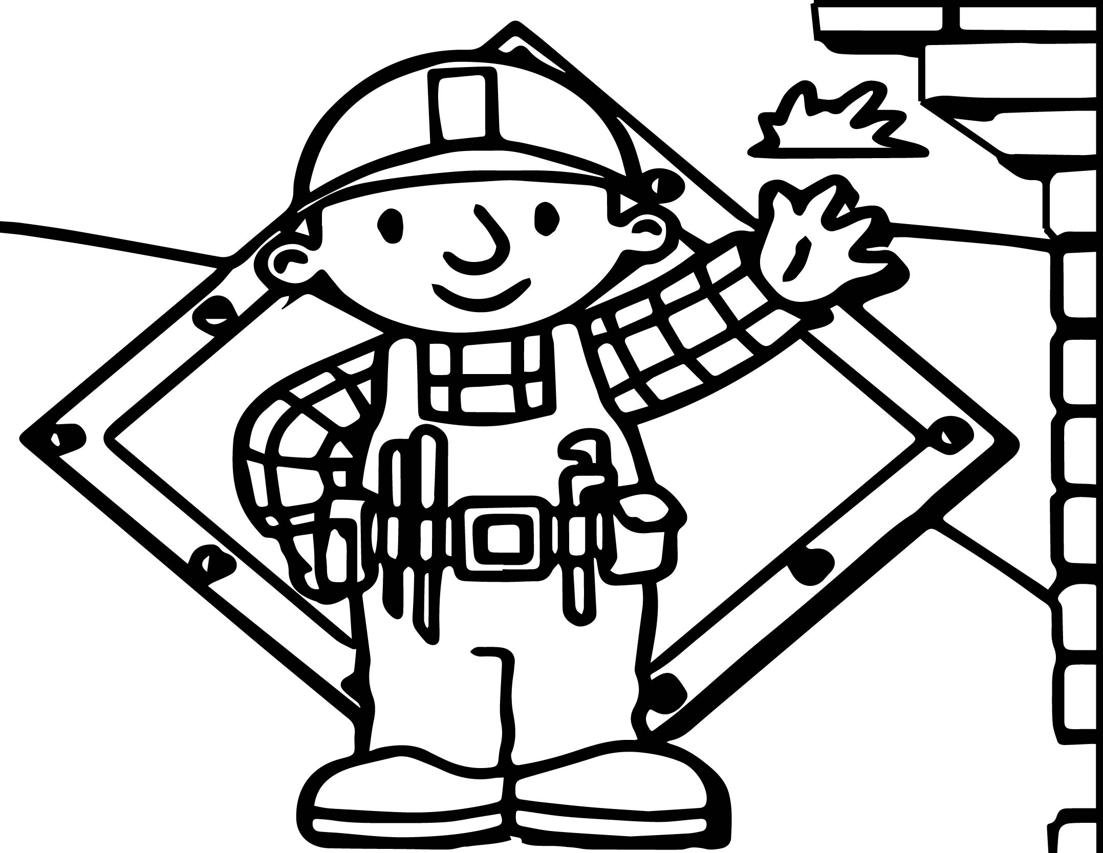 Bob The Builder Here I Am Coloring Page