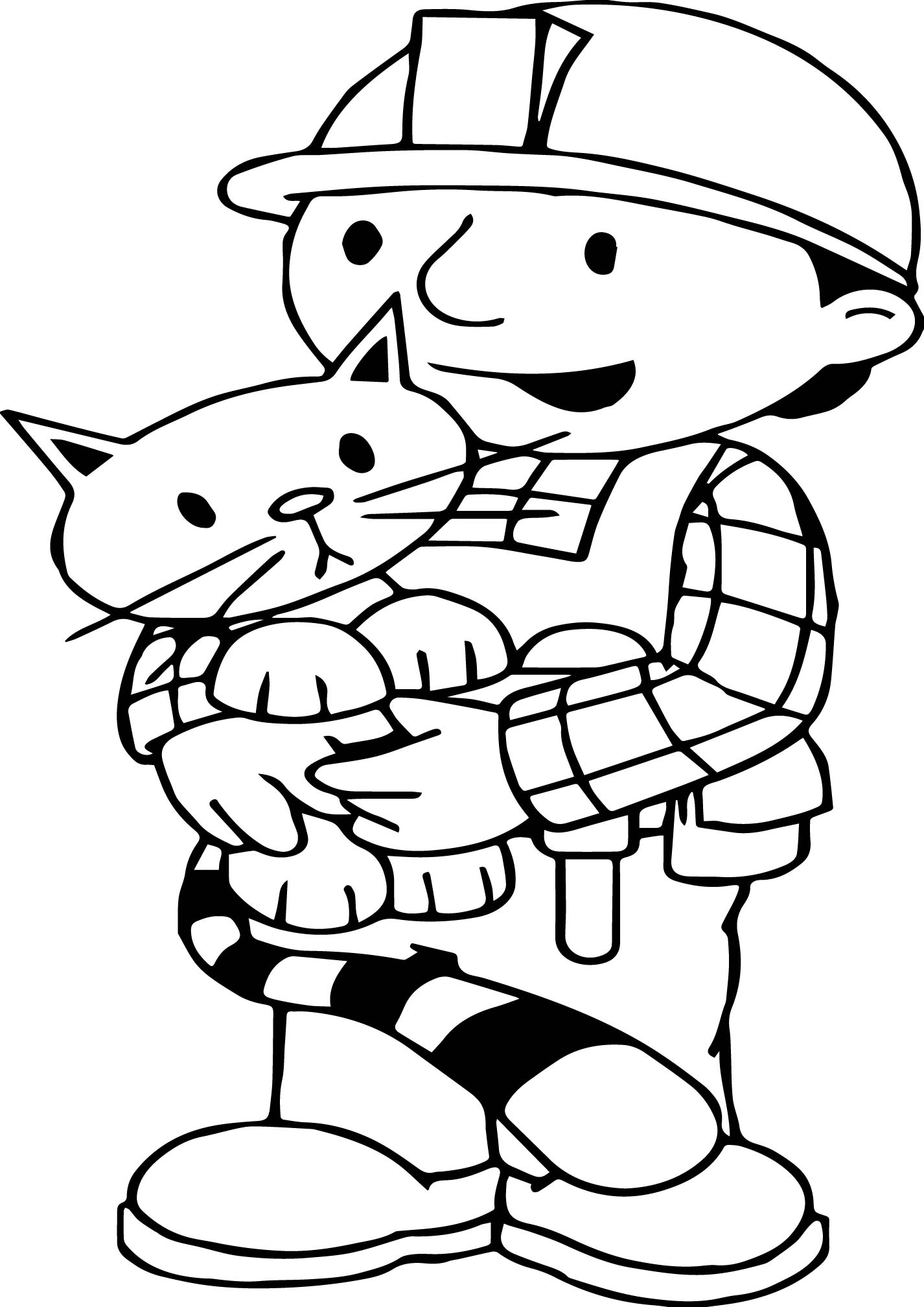 Bob The Builder Love Cat Coloring Page Wecoloringpage