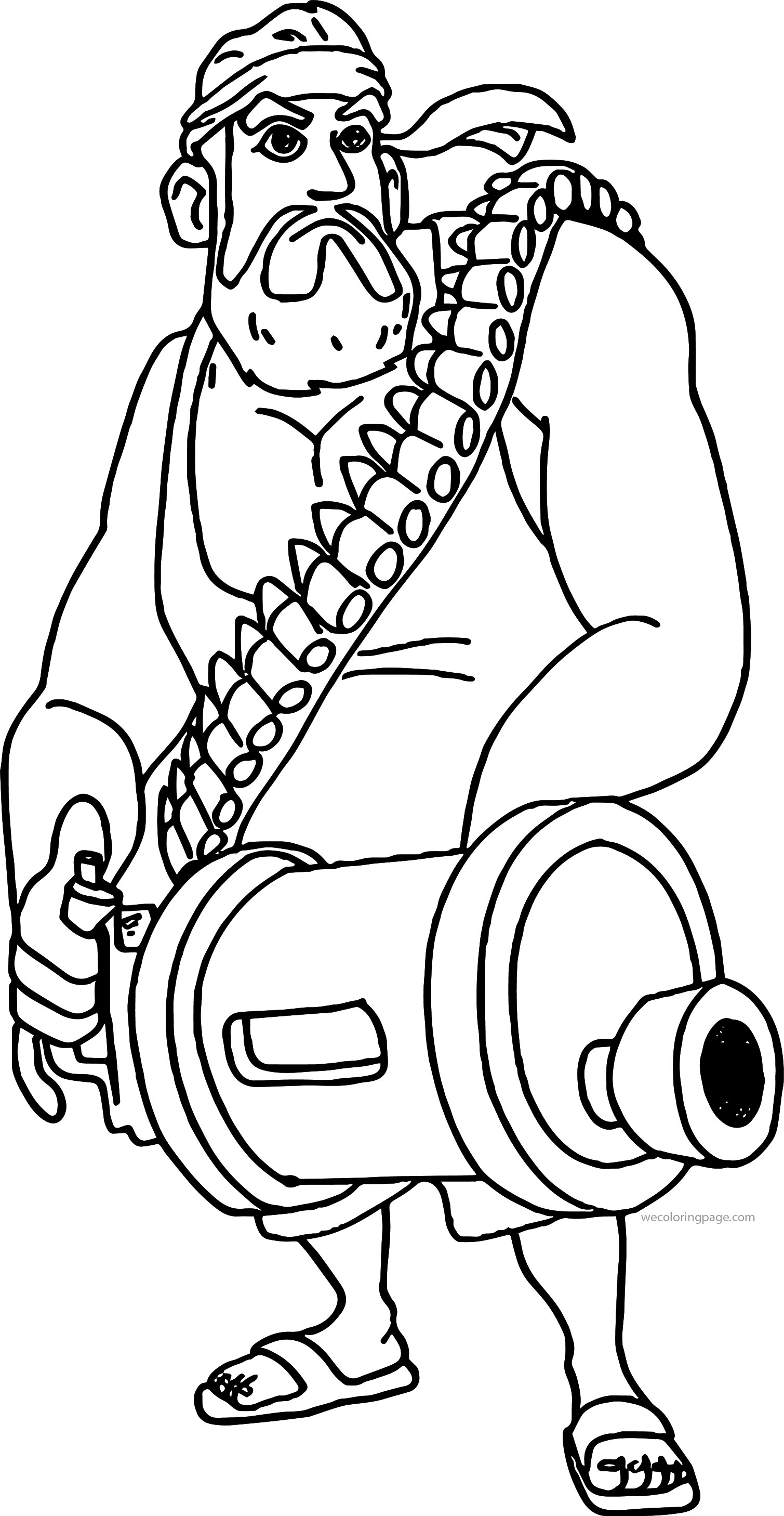 boom coloring on the beach character heavy soldier coloring page