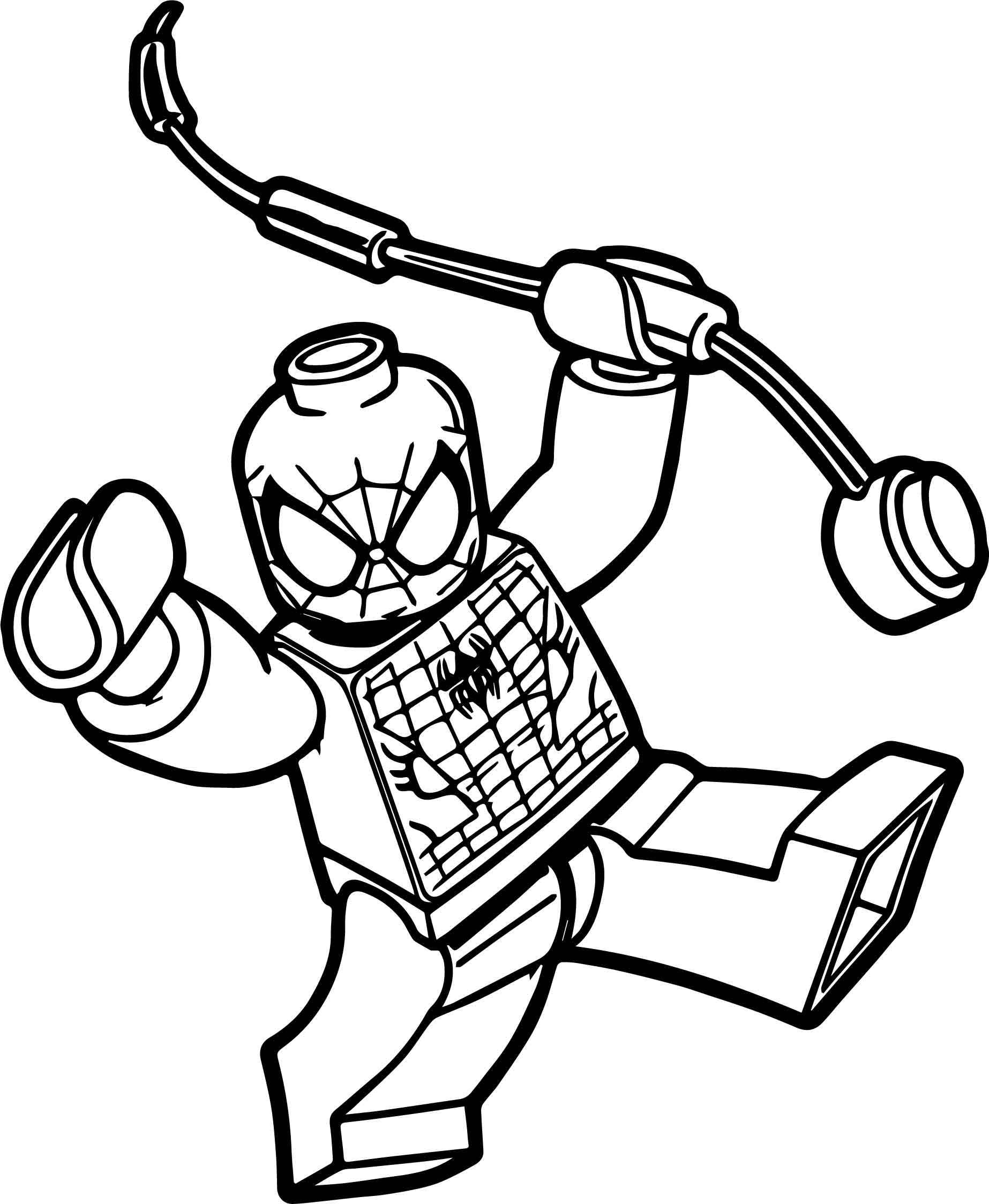 Box Spiderman Lego Spider Man Coloring Page ...