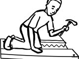 Boy Nail Carpenter Coloring Page