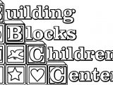 Building Blocks Children Center Coloring Page