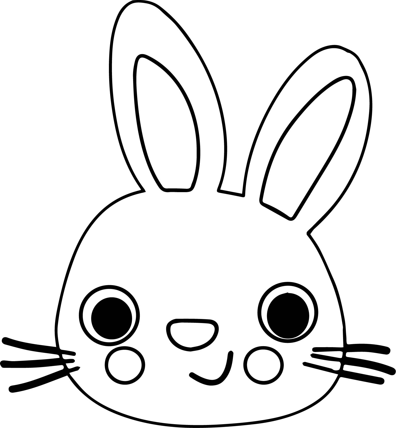 95 Coloring Pages Bunny Face