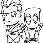 Cable And Deadpool Coloring Page