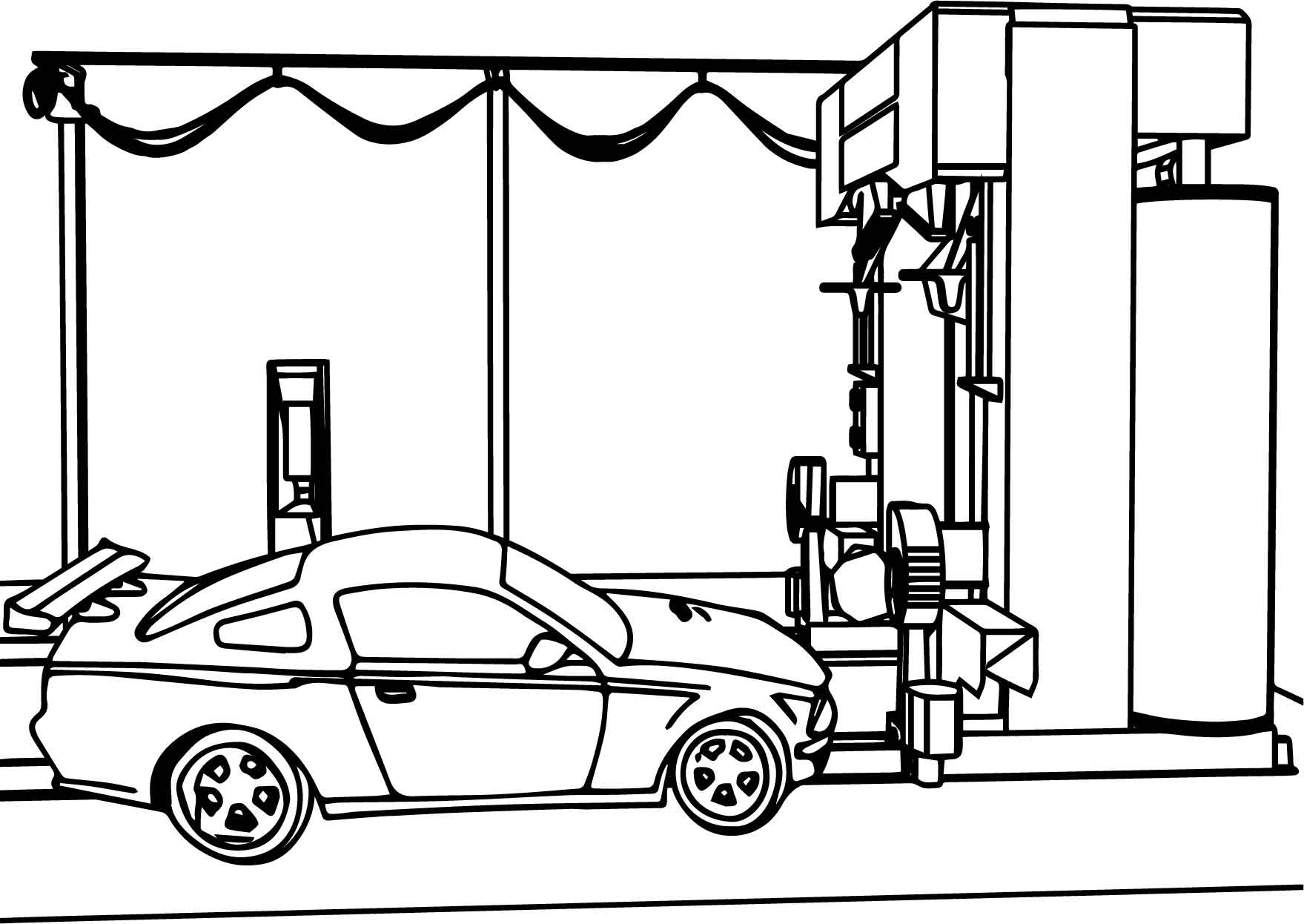 car wash coloring page wecoloringpage