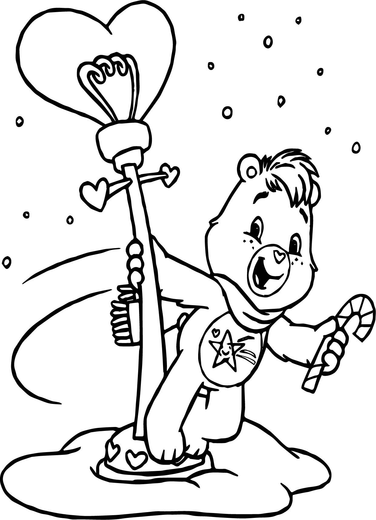 Care Bear Street Lamb Coloring Page
