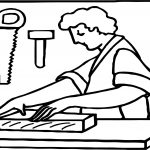 Carpenter Art Coloring Page