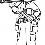 Carpenter Boy Coloring Page