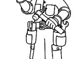 Carpenter Boy Coloring Page