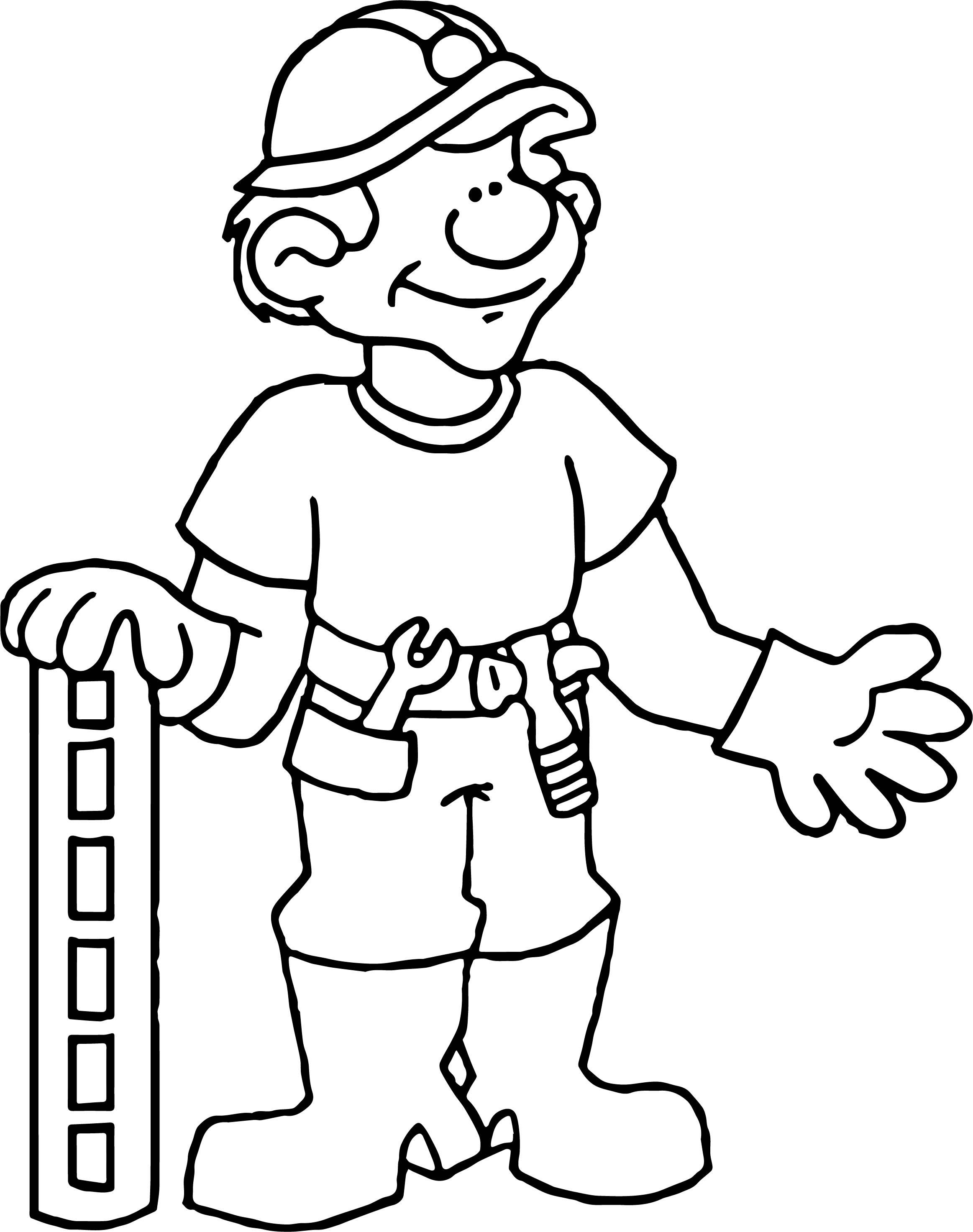 Carpenter Coloring Page