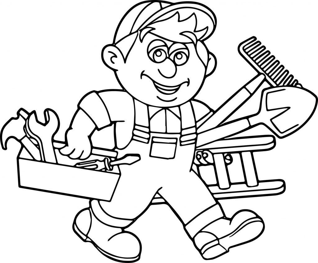Carpenter Handyman Services Toolbox Coloring Page ...  Carpenter Handy...