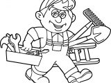 Carpenter Handyman Services Toolbox Coloring Page