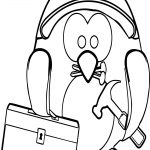 Carpenter Penguin Toolbox Coloring Page