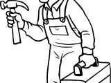 carpenter right time coloring page