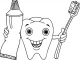 Cartoon Dental Coloring Page