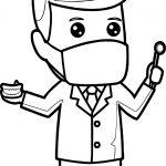 Cartoon Dental Man Coloring Page