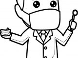 Cartoon Dental Man Coloring Page