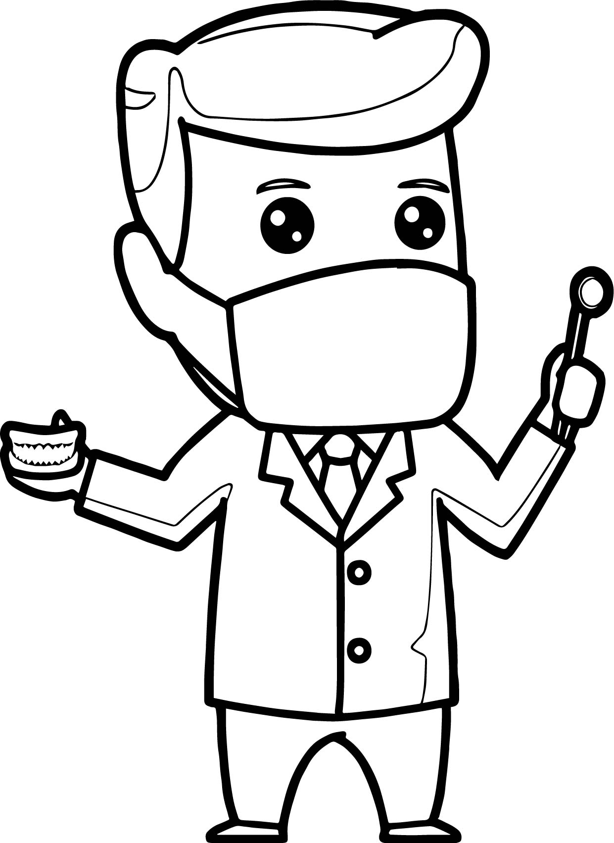 Cartoon dental man coloring page for Coloring pages man
