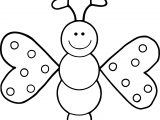 Cartoon Girl Butterfly Coloring Page