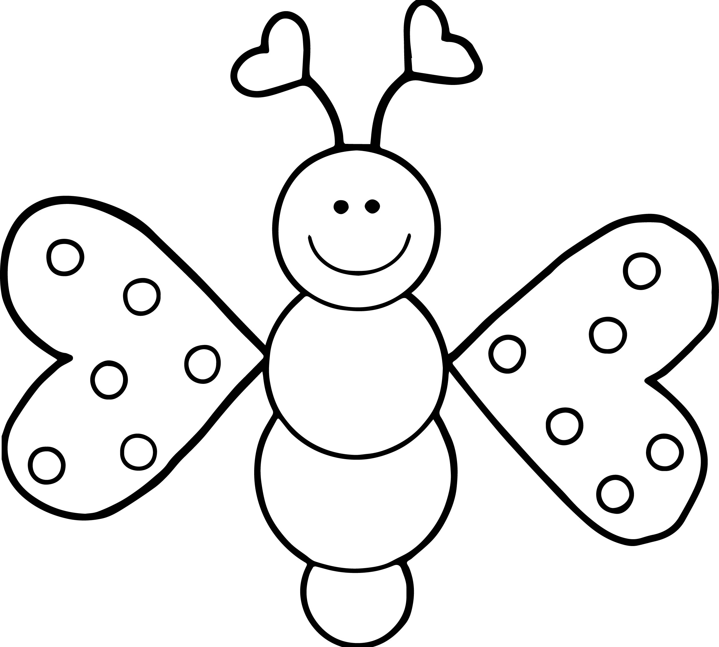 Cartoon Girl Butterfly Coloring Page | Wecoloringpage.com - photo#42