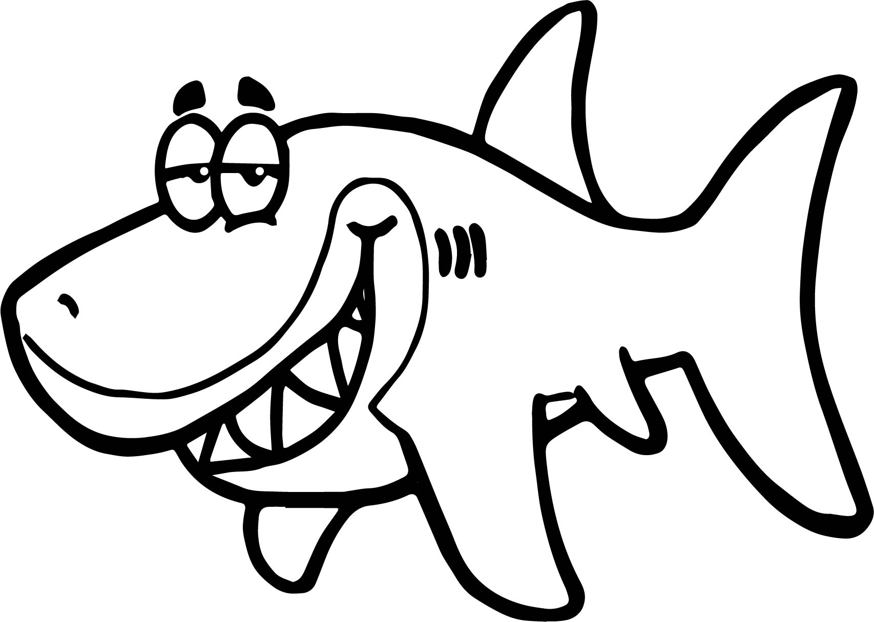 Cartoon Shark Funny Fish Paper