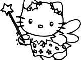 Cartoons Hello Kitty Free Make Magic Coloring Page