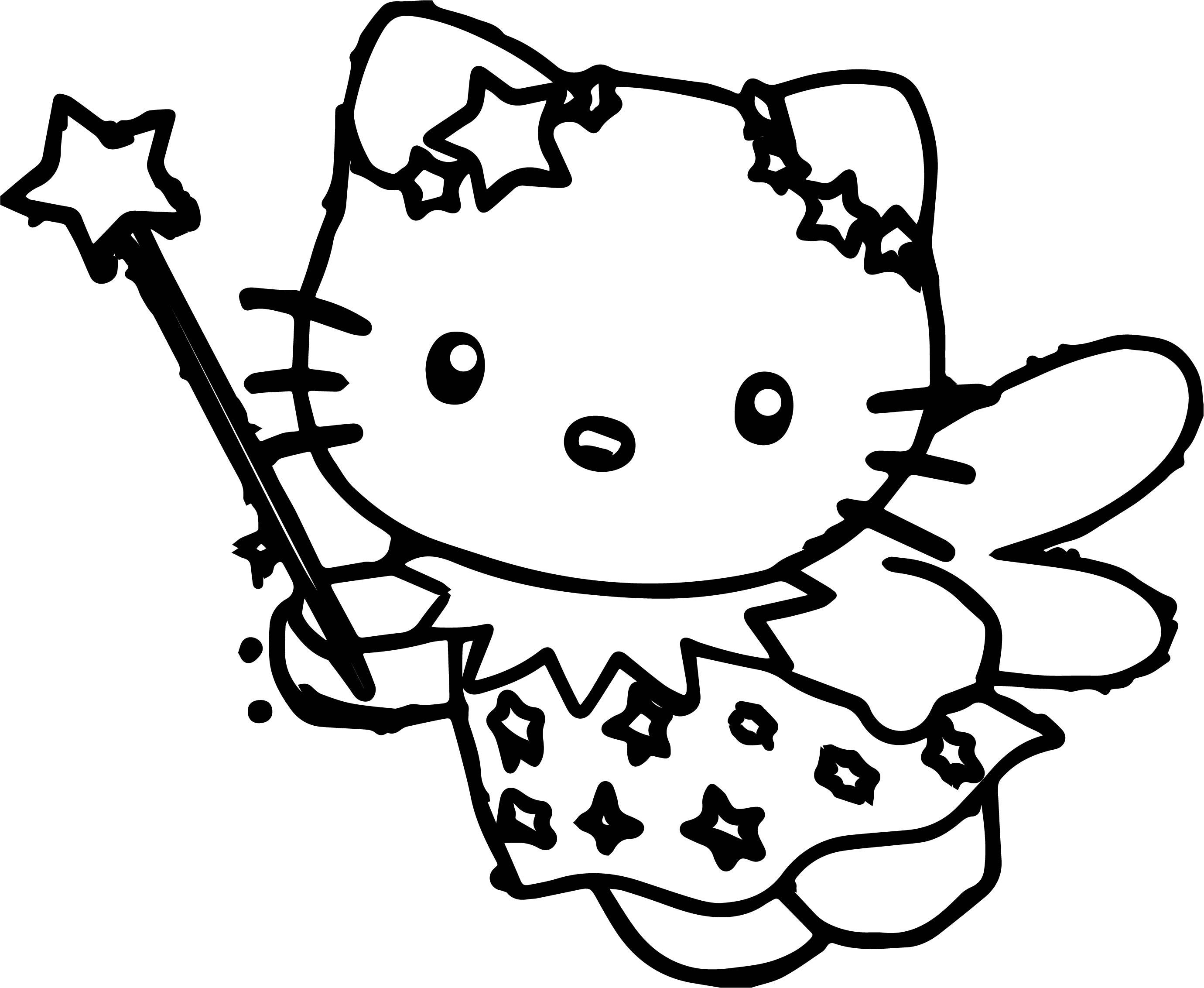 Cartoons Hello Kitty Free Make Magic Coloring Page