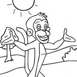 Chhota Bheem Monkey Coloring Pages