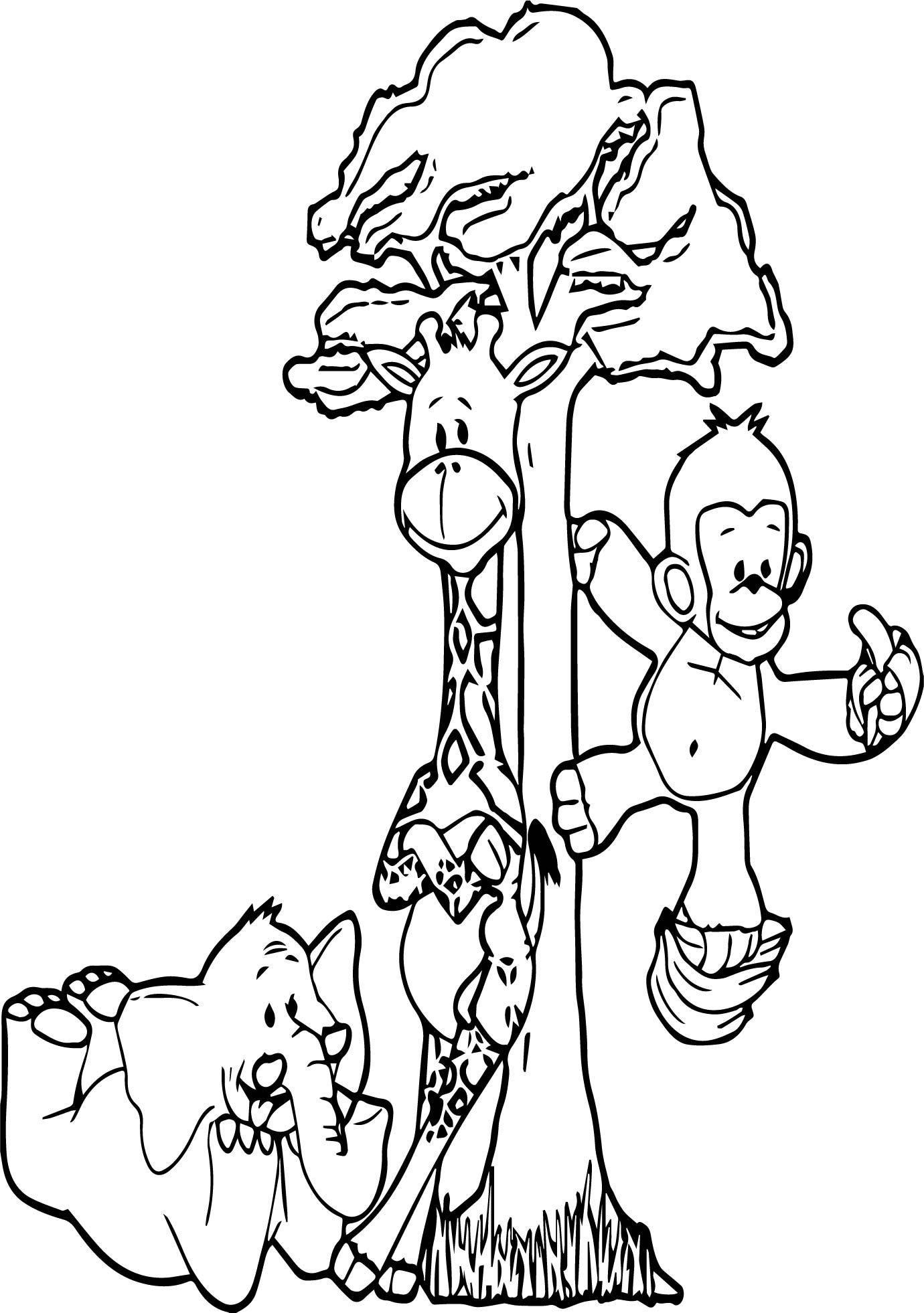 Child Animals For Children Coloring Page