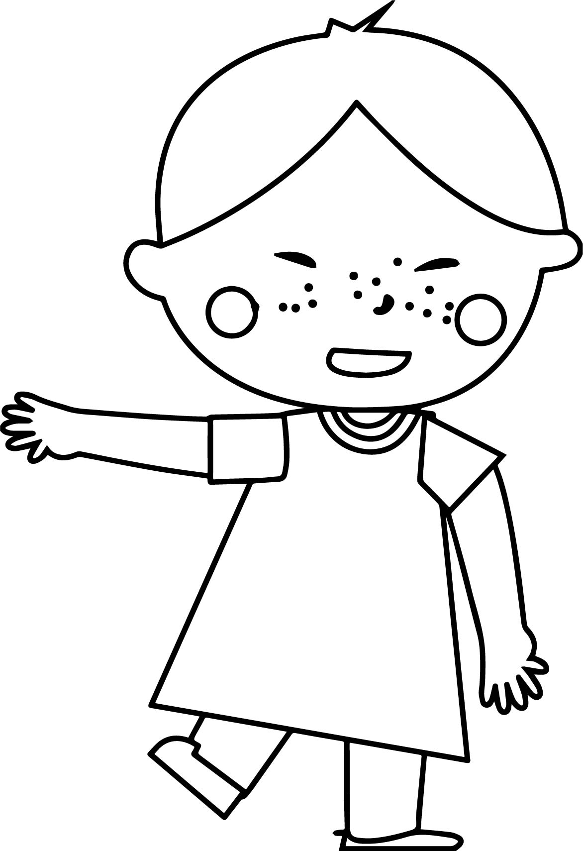 Child Boy China Coloring Page