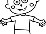 Child Boy Joy Coloring Page