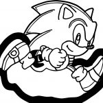 Classic Small Sonic Running Coloring Page