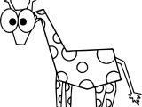 Comic Giraffe Coloring Page