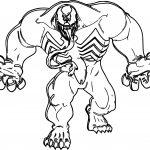 Coming Venom Marvel Coloring Page