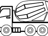 Construction Cement Truck Coloring Page