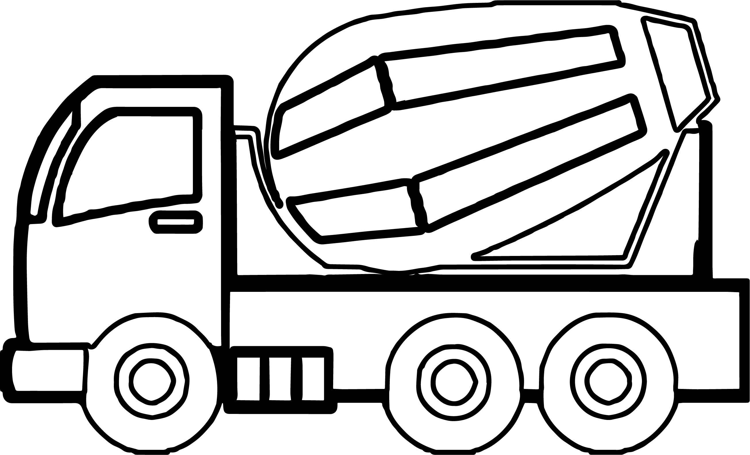 Construction Cement Truck Coloring Page | Wecoloringpage