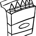 Crayon Box Coloring Page