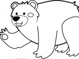 Cute Animal Bear Coloring Page