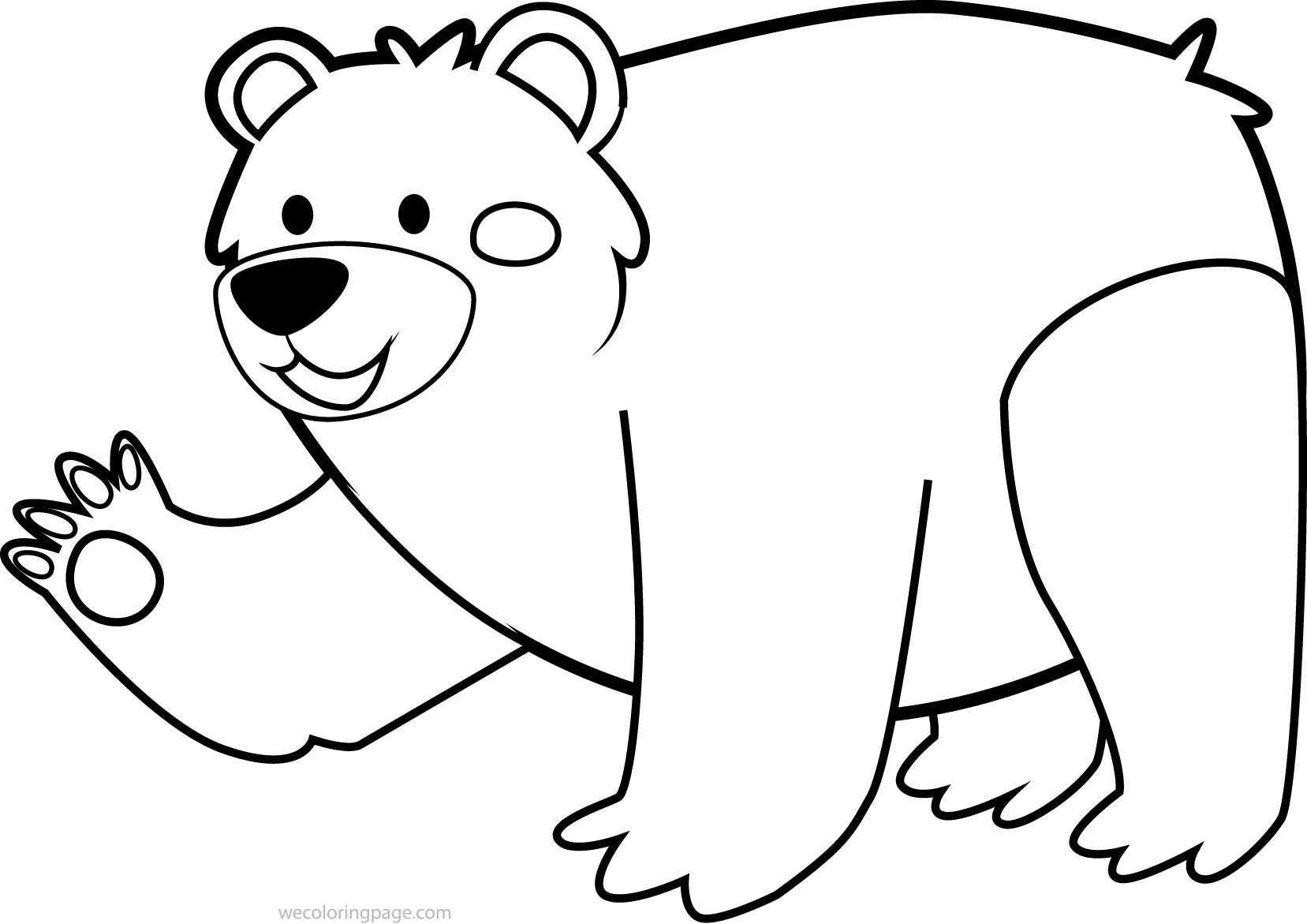 Cute Animal Bear Coloring Page | Wecoloringpage