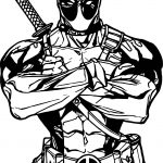 Deadpool All Is Ok Coloring Page